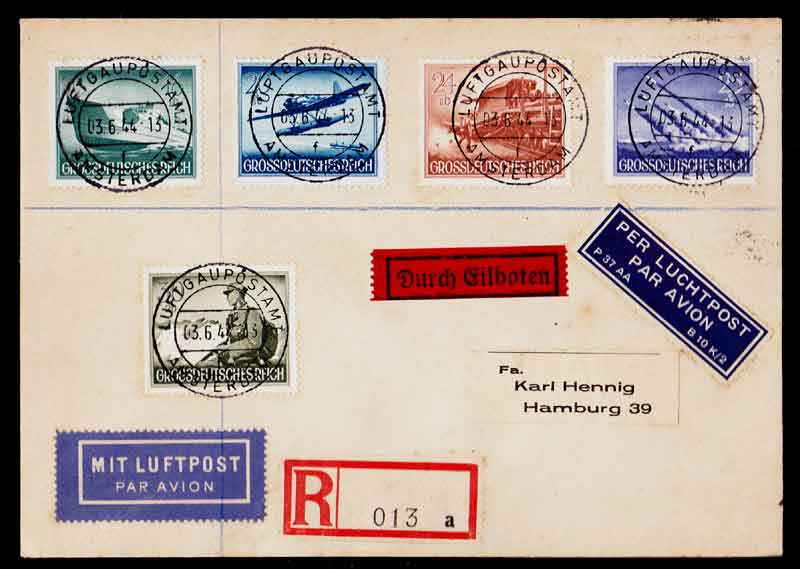 Third Reich Stamps, Grahams Nazi Germany Third Reich Covers,Third Reich Covers, Nazi Covers, Zeppelin, Hindenburg, Airship, Nazi Third Reich covers, Nazi Germany, Nazi Covers, Nazi, Concentration Camps, Third Reich, Nazi Stamps, Hitler, 3rd Reich, NSDAP, Nazi Germany
