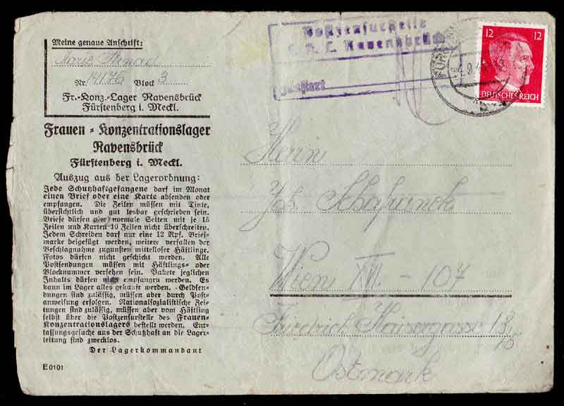 RAVENSBRÜCK WOMAN'S CONCENTRATION CAMP,Third Reich Stamps, Third Reich Covers, Nazi Covers, Nazi Third Reich covers, nazi germany stamp collecting, German Stamps Third Reich, Reich Stamps, Postage Stamps of Germany, Nazi Germany Stamps, German Stamps, Third Reich Stamps, Nazi Germany, Zeppelin, Hindenburg, Airship, Nazi Covers, Nazi, Third Reich, Nazi Stamps, Hitler, Concentration Camps, 3rd Reich, NSDAP, Nazi Germany
